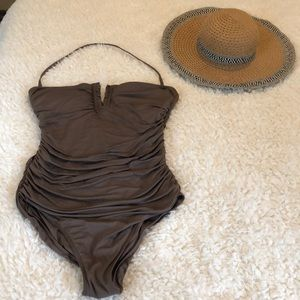 One Piece Taupe Bathing Suit by Calvin Klein